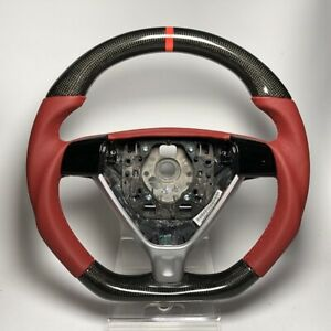 Porsche 997 1 997 Triangle Airbag Carbon Steering Wheel Carrera Red Leather 987