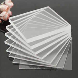 Clear Acrylic Perspex Sheet Cut To Size Plastic Plexiglass Panel Diy 1 5mm Hot