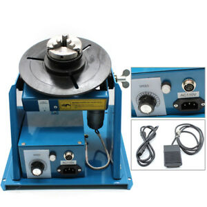 Mini Rotary Welding Positioner Turntable Table 2 5 3 Jaw Lathe Chuck 110v 80a