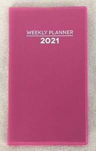 2021 Pink Weekly Pocket Planner Calendar Organizer Appointment Book 4 x6 5