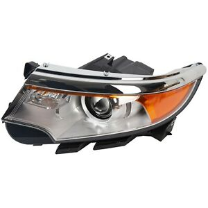 For 2011 2013 Ford Edge Left Driver Side Front Headlamp New Headlight