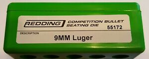 55172 REDDING COMPETITION SEATING DIE 9MM LUGER BRAND NEW FREE SHIP $114.99