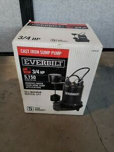 Everbilt 3 4 Hp Professional Sump Pump