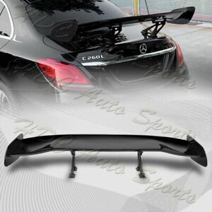 Universal 57 Type 2 Painted Black Abs Gt Trunk Adjustable Bracket Spoiler Wing