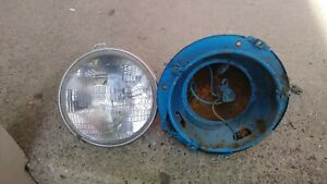 1961 Ford Falcon Complete Headlight Bucket W wiring And Trim Ring