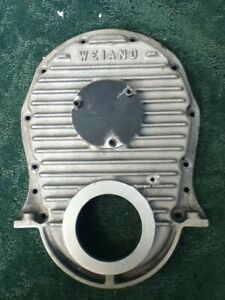 Bbc Chevy Finned Aluminum Timing Chain Cover Nostalgia Gasser Weiand 7133