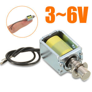 3 6v Mini Dc Solenoid Electromagnet Push Pull Through Type Electric Magnet Sell