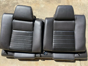 2010 2014 Ford Mustang Coupe Gt Rear Leather Seat With Carbon Fiber Insert Oem