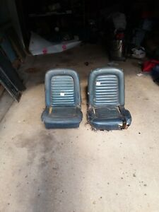1965 1966 1967 Mustang Bucket Seats Driver Side And Passenge Set Oem Used
