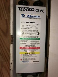 Allanson 930cpx120 Neon Sign Outdoor Power Transformer 120v 60hz 270va 9000 30ma