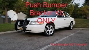 Go Rhino Push Bumper Bracket Kit Only For 2003 2011 Ford Crown Victoria 5038tk