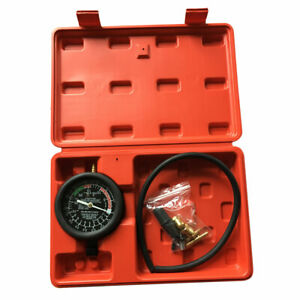 Fuel Pump And Vacuum Tester Carburetor Valve Pressure Tester Gauge Kit Car Truck