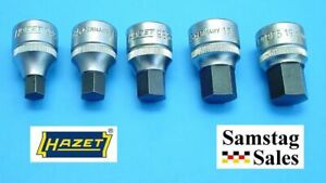 Hazet Germany 985 Socket Set Hex Bit 1 2 Dr 10mm 12mm 14mm 17mm And 19mm