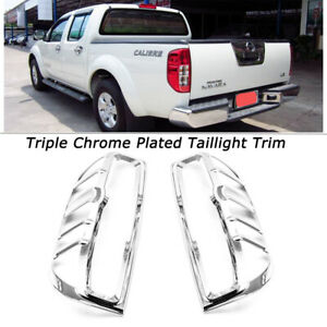For Nissan Frontier 2005 2011 2012 2013 2014 2015 Chrome Rear Tail Light Covers