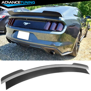 Fits 15 20 Ford Mustang Coupe Md Style Trunk Spoiler Wing Abs Matte Black