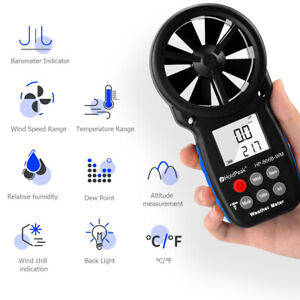 5in1 Digital Wind Spped Gauge Anemometer Vane Handheld Air Flow Humidity Chill