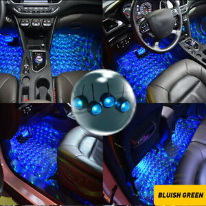 Led Car Interior Atmosphere Neon Lights Strip Music Control Floor Decor Light Ea
