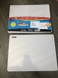 2x Dry Erase Board Double Sided Works With Dry Erase Markers And Crayons 9x12