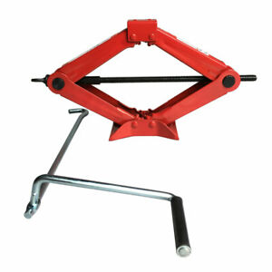 1 5 Ton Wind Up Lift Scissor Jack For Truck Car Suv Van Emergency Red Usa