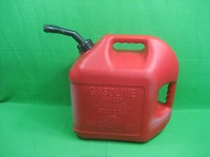 Vintage Blitz Gas Can Red Plastic 5 Gallons Model 50833