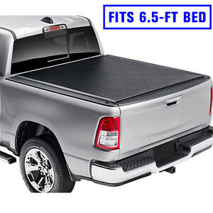 For 2015 2020 Ford F 150 6 5 Ft 79 Bed Premium Lock Roll Up Soft Tonneau Cover