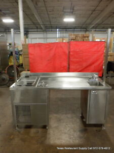 Delfield N225 72 X 30 Stainless Steel Work Table With Ice Cream Freezer Sink