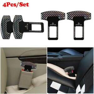 2x Clasp Plug Cars Seat Belt Extender Safe Buckle Clip Alarm Stopper Accessories