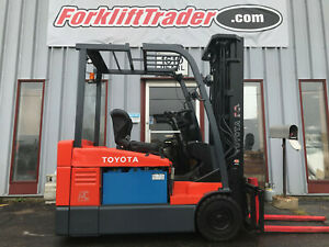 2014 Toyota 7fbeu20 4000lb Cushion Tire Forklift Lifttruck