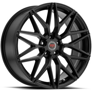 4 Revolution Racing R18 17x7 5 5x114 3 5x4 5 40mm Satin Black Wheels Rims