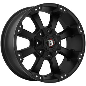 4 ballistic 845 Morax 20x9 6x135 6x5 5 0mm Flat Black Wheels Rims 20 Inch
