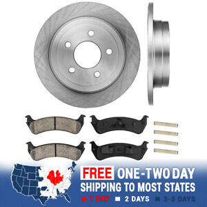 Rear Brake Rotors And Ceramic Pads For Trac 2003 2004 2005 Ford Explorer 4wd