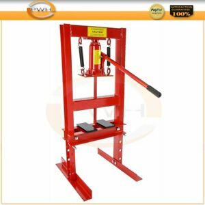 Hydraulic Jack Press Shop Equipment 6 Ton With Plates H Frame Diy Tools Us Stock