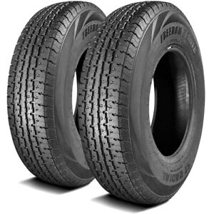 2 New Freedom Hauler St Radial All Steel St 205 75r14 Load D 8 Ply Trailer Tires