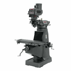 Jet 691202 Jtm 4vs Mill With 3 axis Newall Dp700 Dro quill
