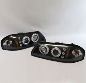 2000 2005 Chevy Impala Led Halo Projector Headlights Black Housing Used