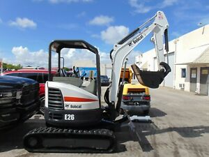 2017 Bobcat E26 Mini Excavator 6 000 Lb 2 Speed With Blade Kubota Diesel
