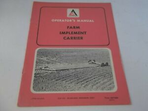 Allis chalmers Farm Implement Carrier Operator s Manual