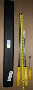 3 Snap On Pry Bars Tool Other Brand 1 2 Torque Bar As Is Used