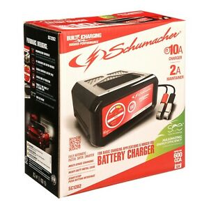 Schumacher Electric 10 Amp Metal Case Car Vehicle Battery Charger