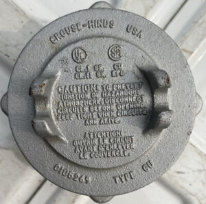 Crouse hinds Junction Box 0105269 Type Gu