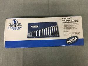 Cornwell Tools Blue Power Bpw19mst 19 Pc 12 Point Metric Combination Wrench Set