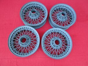 Set Of Four Reconditioned 60 Spoke 14 Stock Wire Wheels For Mgb And Mgb Gt