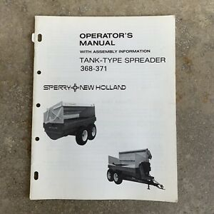 Sperry New Holland Tank Type Spreader Operators Manual 368 371