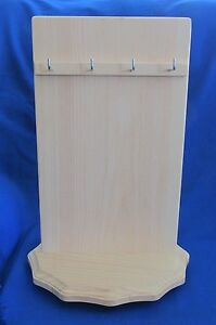 Hand Crafted Wooden Necklace Display Spinning Rack Made In Usa Heavy Duty 2 Side