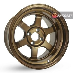 4 Pcs Rota Grid V Wheels 15x9 4x100 15 67 1 Full Royal Sport Bronze