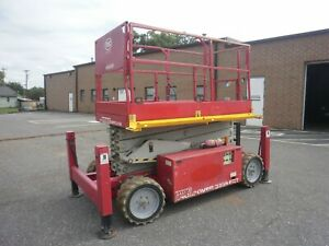 2013 Mec 3259 Ert Crossover 4x4 Electric Rought Terrain Scissor Lift 169 Hours