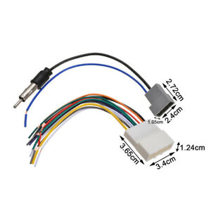 For Nissan Car Dvd Radio Install Stereo Wire Harness Cable Plugs Antenna Adapter