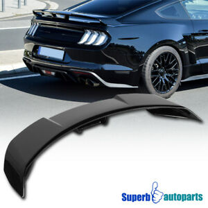 For 2015 2020 Ford Mustang Glossy Black Abs Gt500 Style Rear Trunk Spoiler Lid
