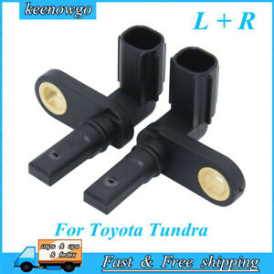 Front rear Left Right Abs Wheel Speed Sensors Fits For 07 17 Toyota Tundra