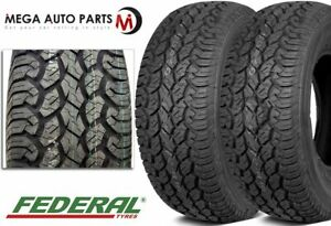 2 New Federal Couragia A t Lt215 75r15 100q Owl 6ply All Terrain Truck Suv Tires